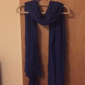 Zara blue scarf